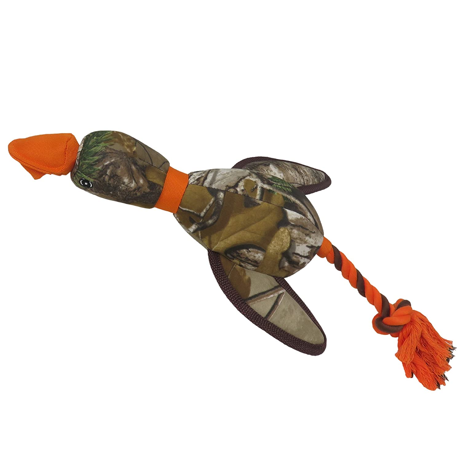 19 inches long Realtree Mallard Sling-Shot Dog Toy. Best Licensed Tough Floating Toy Dogs & Cats. Fun & Durable Pet Toy