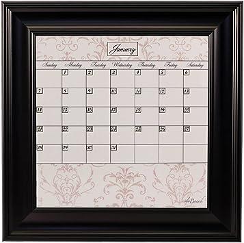 Amazon.com : Small Contrast Calendar Board Framed Black : Wall