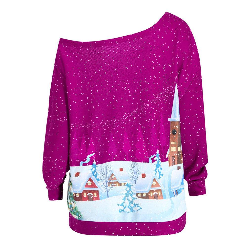 Sudadera con capucha para mujer, Navidad, Lonshell, reno, manga ...