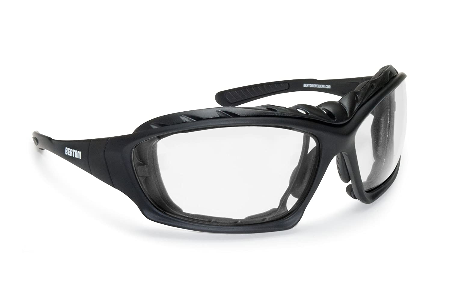 Bertoni Photochromic Extreme Sports Sunglasses - Motorcycle Prescription Goggles- Antifog lens - Italy F366A Bertoni iWear
