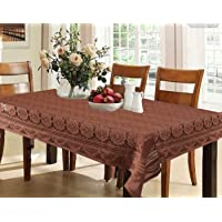 Kuber Industries Circle Design Cotton 6 Seater Dining Table Cover