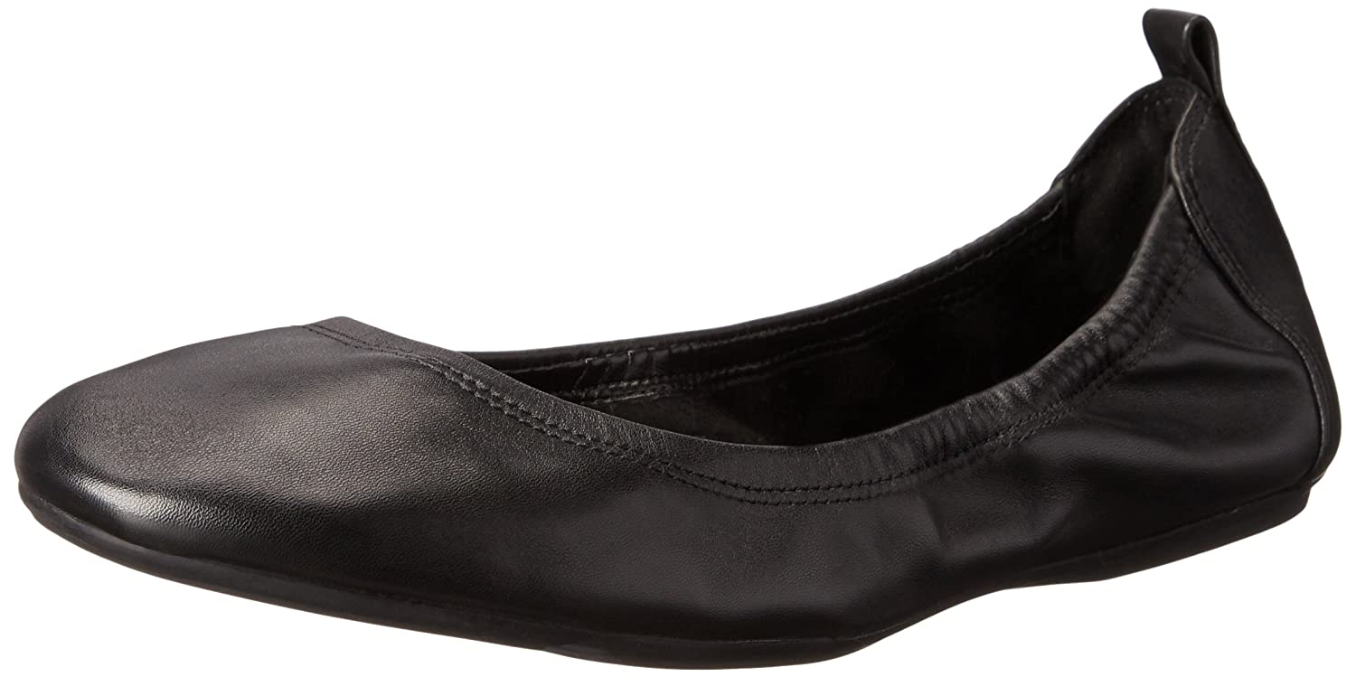 Black Leather Cole Haan Womens Jenni II Ballet Flat Ballet Flat