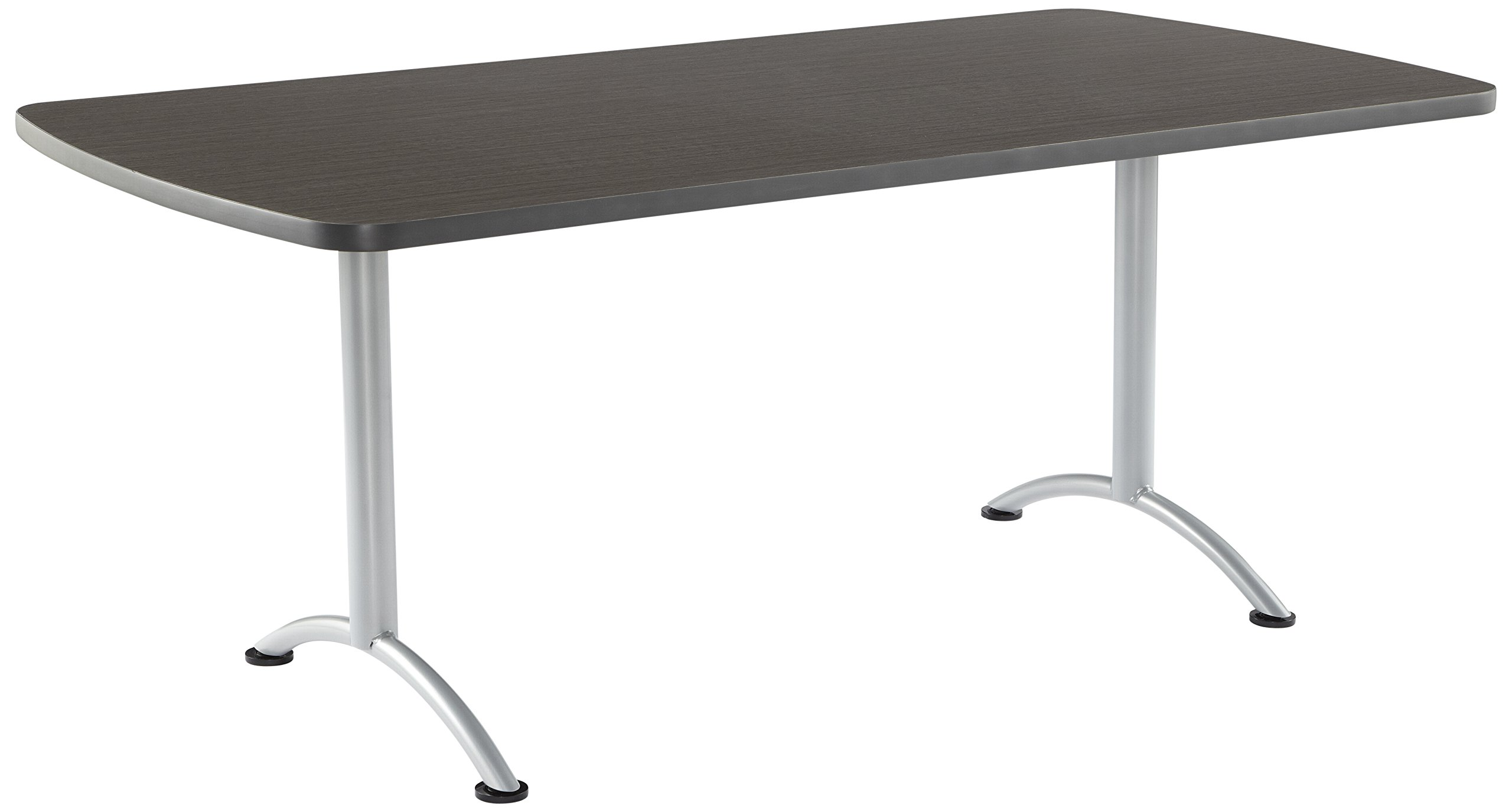 Iceberg ICE69225 ARC 6-foot Rectangular Conference Table, 36'' x 72'', Gray Walnut/Silver Leg