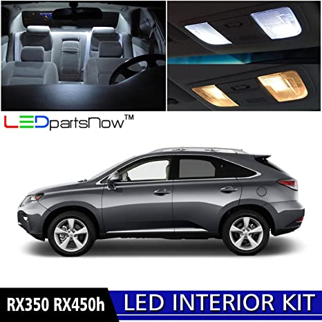 LEDpartsNow 2010 2015 Lexus RX350 RX450h LED Interior Lights Accessories  Replacement Package Kit (10