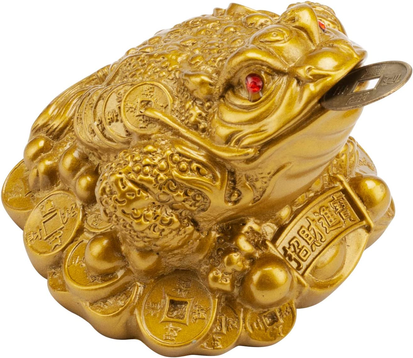 Wschic Feng Shui Money Frog, Lucky Money Toad Decorations,Ideal for Attracting Wealth