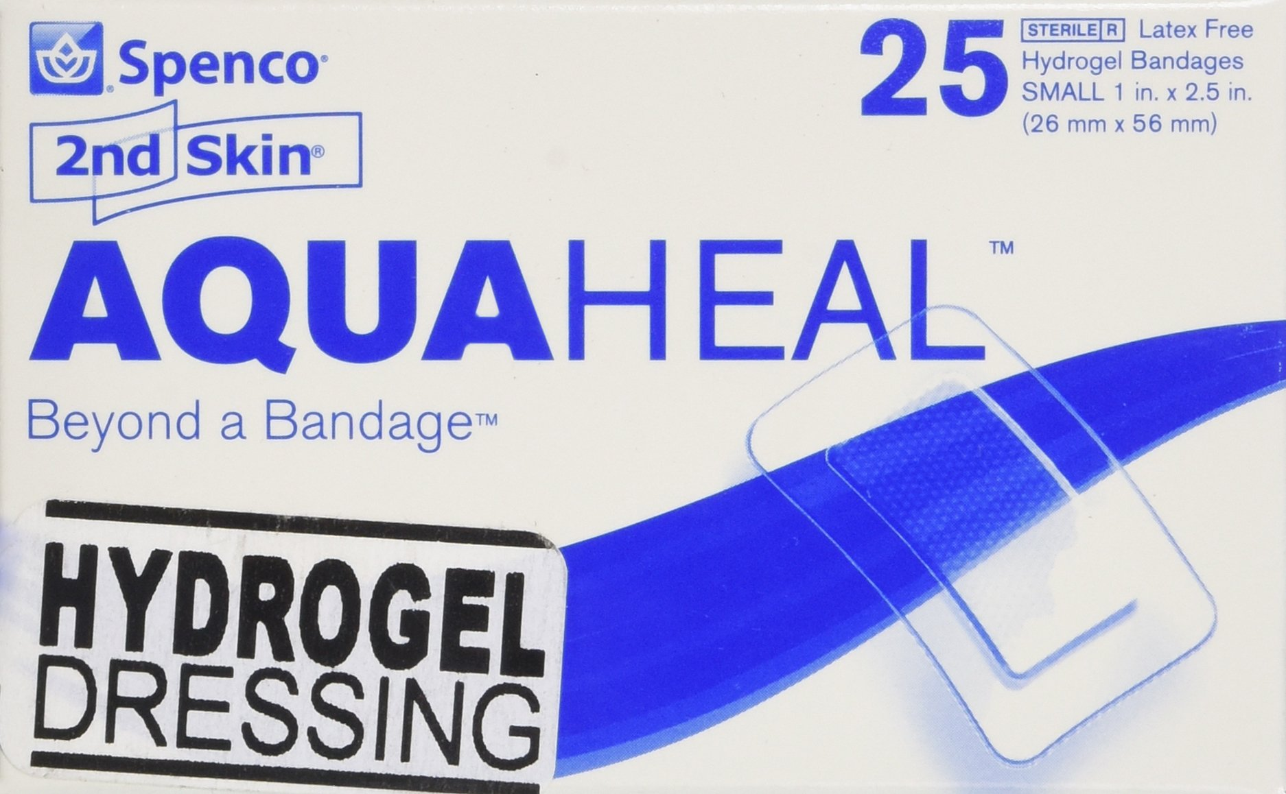 Spenco 2nd Skin Aquaheal Hydrogel Bandages, Medical Small Size 25-Count