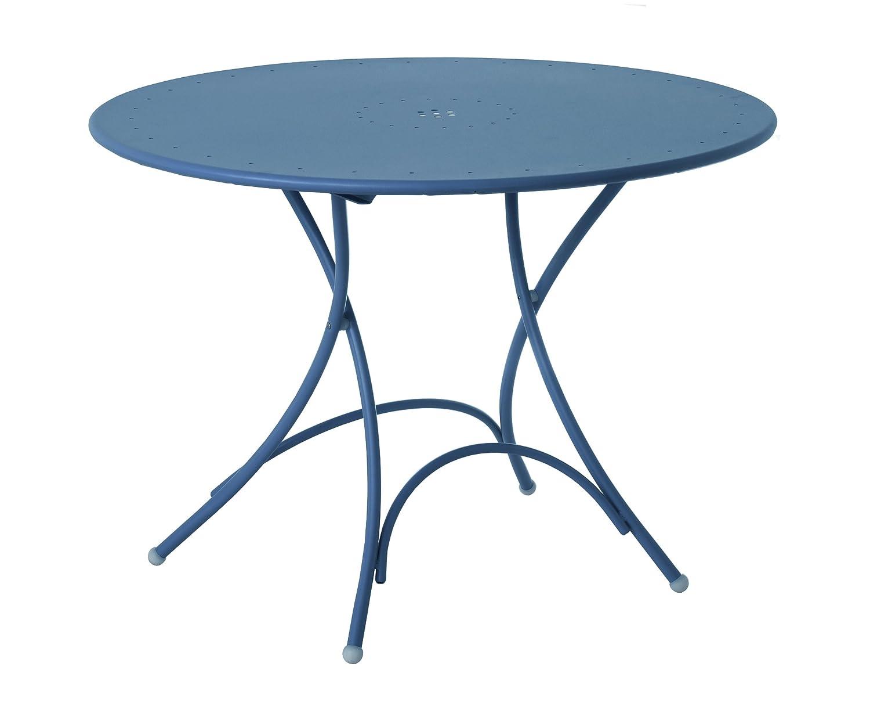 Emu 309046100N Pigalle Klapptisch 904, ø 105 cm, pulverbeschichteter Stahl, petrolblau