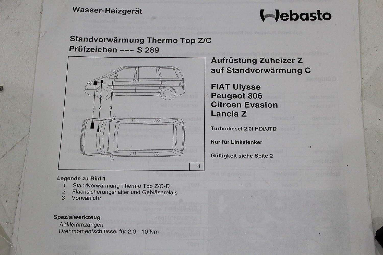 Unbekannt Heating Installation Kit Webasto Diesel Citroen Thermo Top C Wiring Diagram 97005d Car Motorbike
