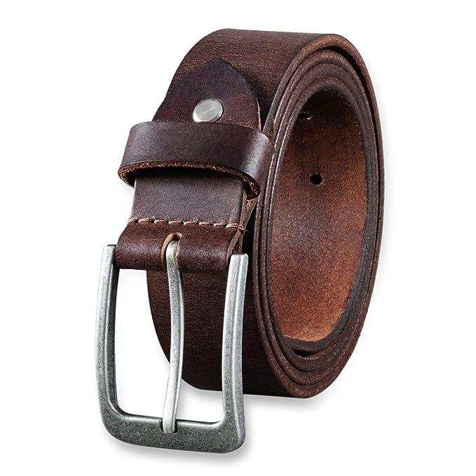 STILORD Cinturón de Cuero para Hombre de Búfalo Robusto Correa para Vaqueros  con Hebilla de Espina Vintage 34mm 71848046447a