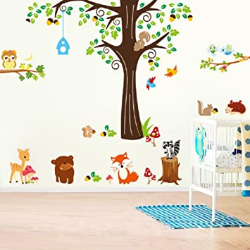Wandsticker Fur Kinder Tiere Zoo Afrika Wandtattoo 3d Kinderzimmer Sticker
