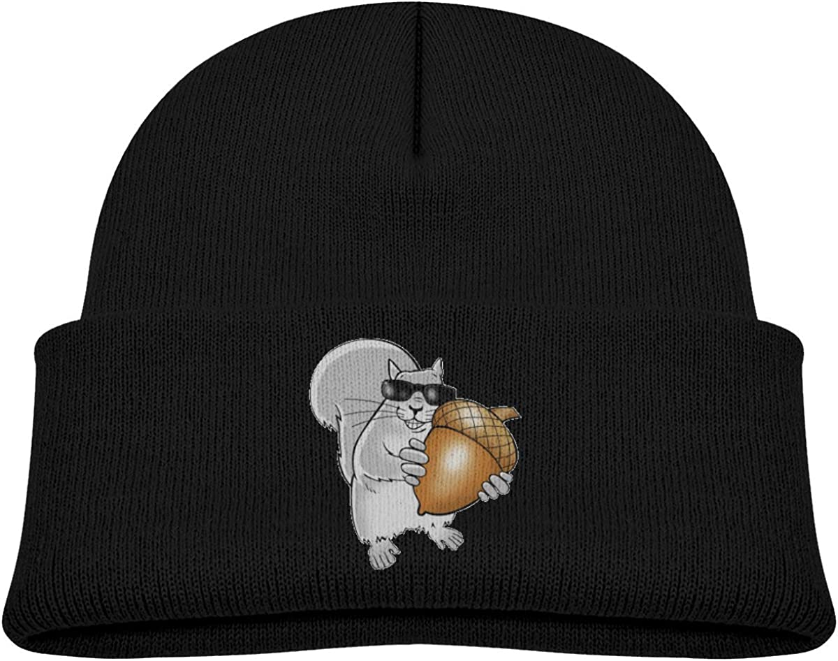 ACFUNEJRQ Blind Squirrel Childrens Autumn and Winter Warm Soft Cap Woolen Knitted Hat