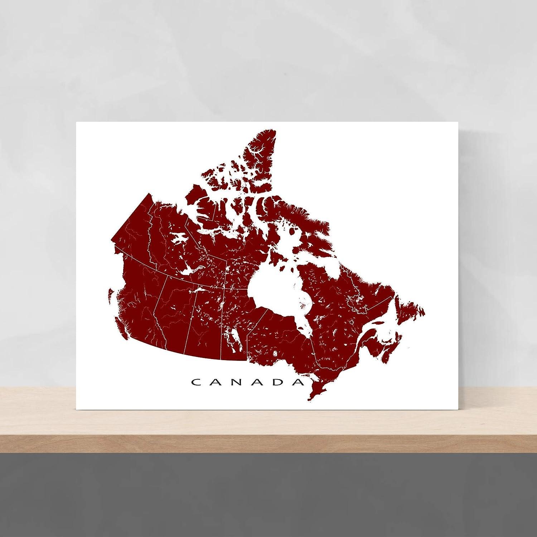 Canada Map Art Amazon.com: Canada Map Poster 24x36, Canada Wall Art Print 8x10
