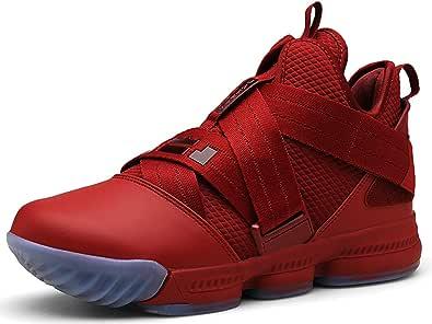 SINOES Hombre Mujer Zapatillas de Baloncesto Calzado Deportivo Al Aire Libre Moda High-Top Sneaker Antideslizante Zapatillas de Deporte Ligeros Zapatos para Correr Transpirable Lace Up