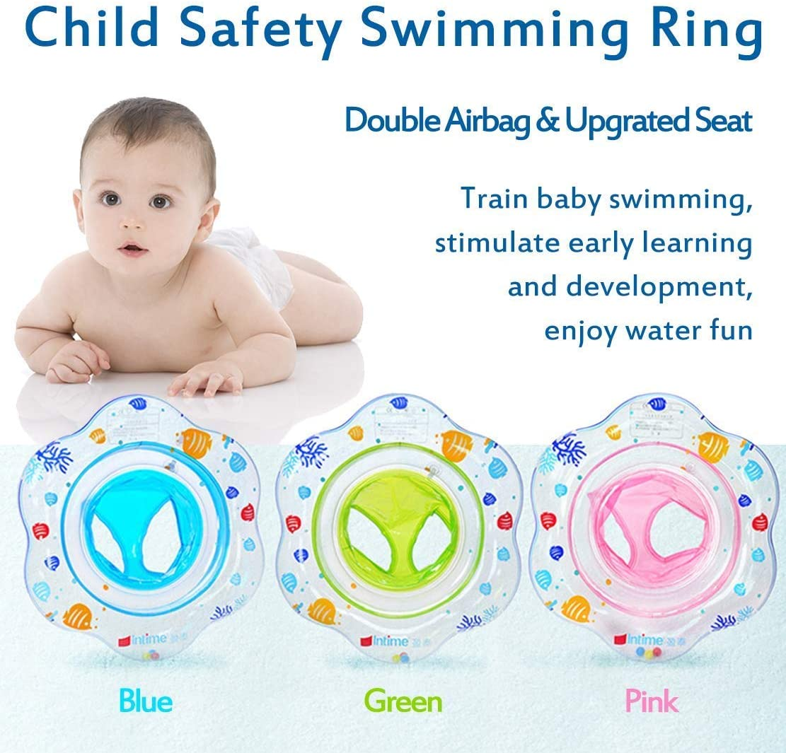 Baby Child Inflatable Swimming Toddler Safety Aid Float Seat Ring 3 Months Kids