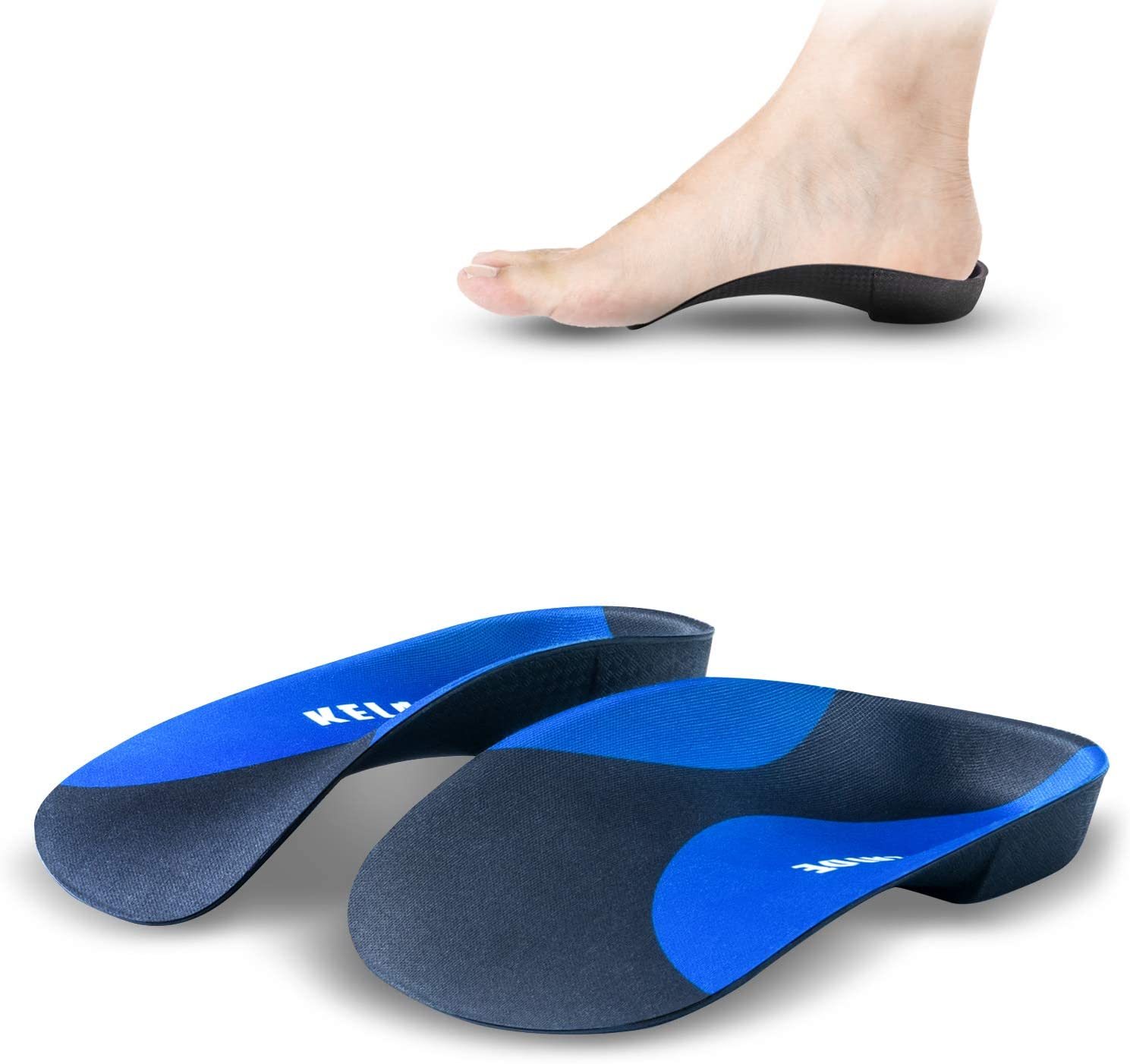 Plantar Fasciitis Arch Support Insoles for Men and Women Shoe Inserts - kelaide 3/4 Orthotics Insoles with Deep Heel Cup - Firm Arch Support Inserts for Flat Feet Arch Pain Work Shoes Boots