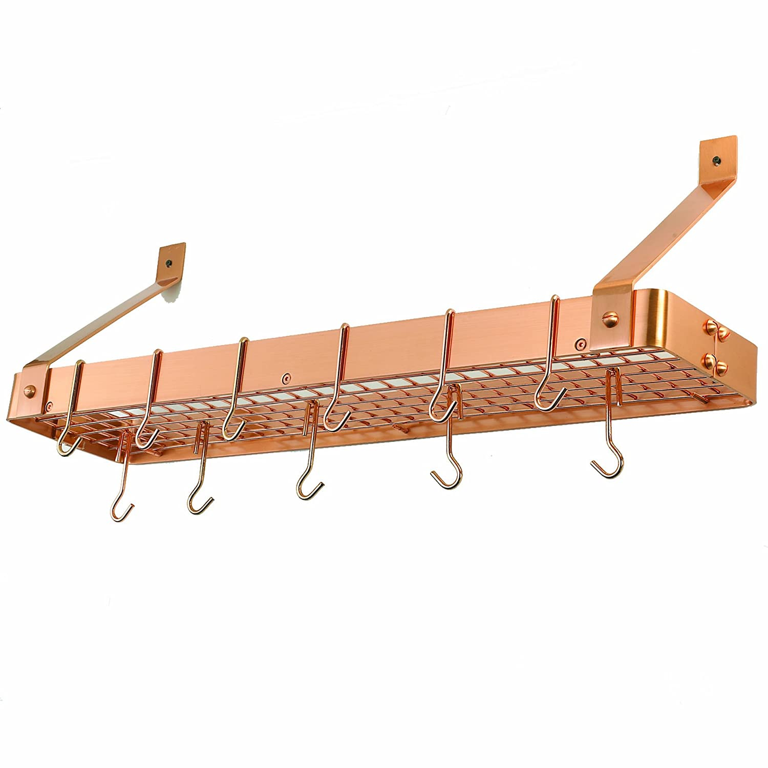 Amazoncom Old Dutch Cookware Rack with Grid Satin Copper
