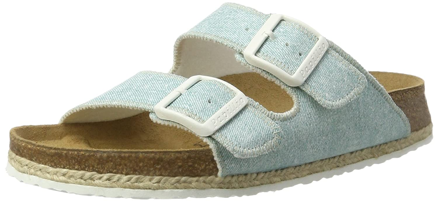 P-A Arizona Birko-Flor - Mules Mujer 38 EU|Blau (Beach Light Blue)