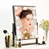 Fenair Vanity Mirror with Lights - Hollywood Style Makeup Mirror with Lights and Magnification,3 Color Lighting Model…
