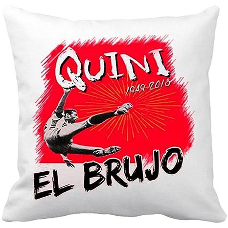 Cojín con relleno Homenaje a Quini El Brujo del fútbol ...
