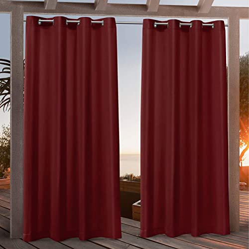 Nicole Miller Canvas Indoor/Outdoor Grommet Top Curtain Panel