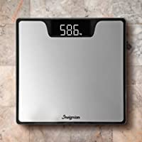 Electronic Digital Blacklit Tempered Glass Body Bathroom Scale 180KG Gym Weight Tracker by Insignian