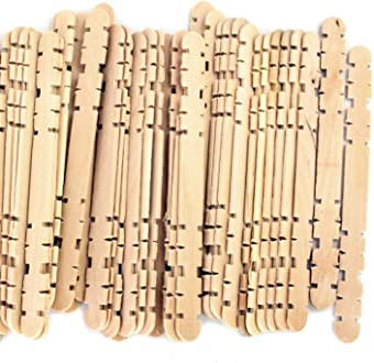1,000 Pack Noched Hobby Wood Craft Sticks Mixed Colors 4.5 Inch