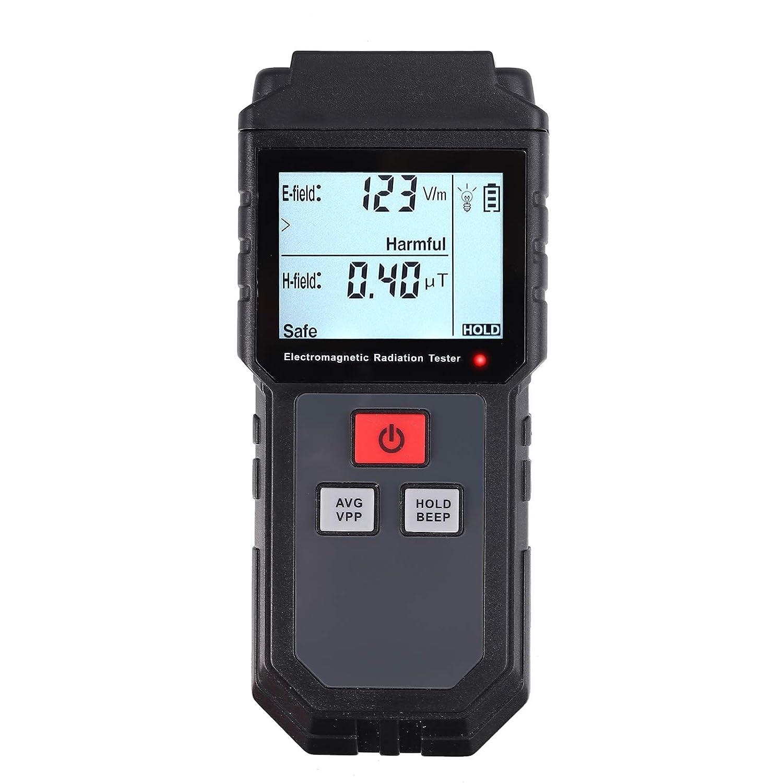 Neoteck EMF Meter Digitale EMF Meter Elettromagnetico Rivelatore di Radiazione da Campo Mini Portatile LCD EMF Rivelatore con Protezione dalle Radiazioni
