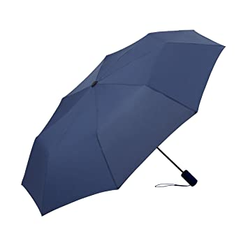 7cb015a1b019 Fiestar Travel Umbrella With Automatic Open and Close Button (Blue and  Black) 3 Fold