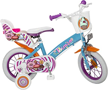 vidaXL Kinderfahrrad 12 Zoll Weiß Rosa Kinderrad Fahrrad für Kinder Mädchen