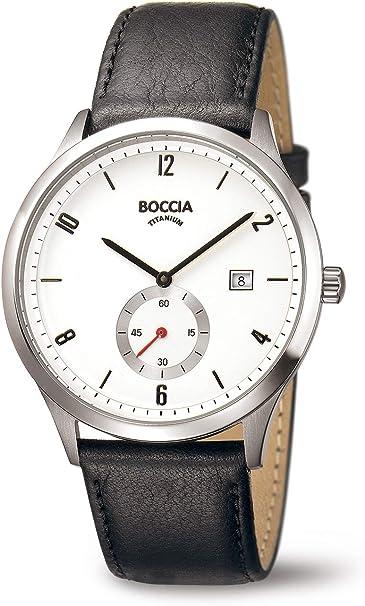 Boccia Reloj Digital para Hombre de Cuarzo con Correa en Cuero 3606-01