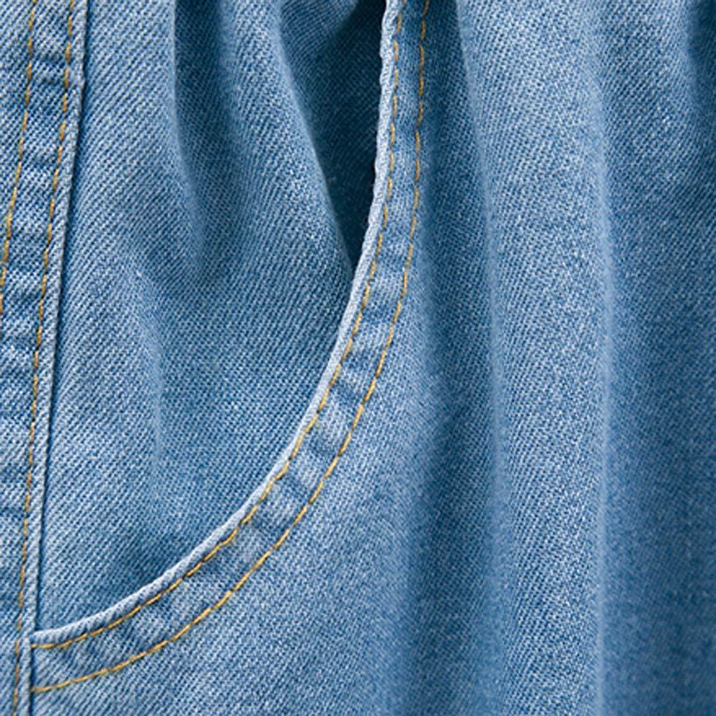 Taglie Forti XXXXXL vestibilit/à Comoda con Onde increspate BaojunHT/® Jeans da Donna in Denim Elasticizzati