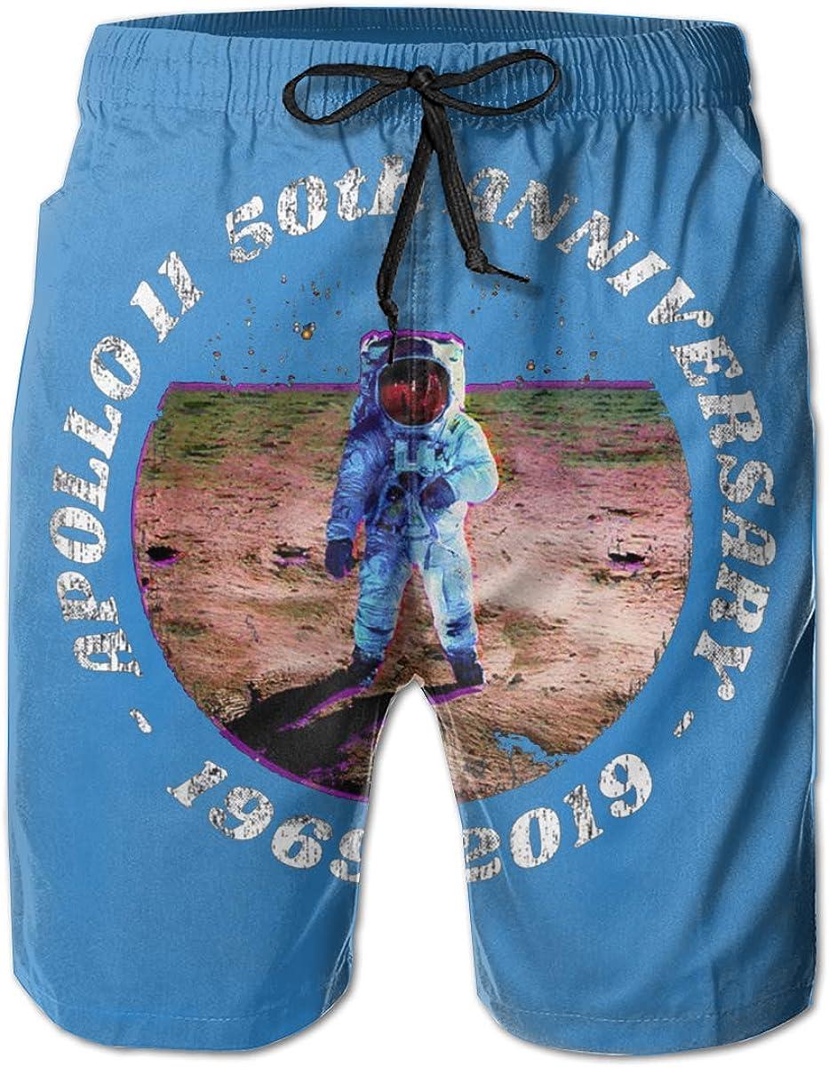 Apollo 11 50th Anniversary Mens Swim Trunks Board Shorts