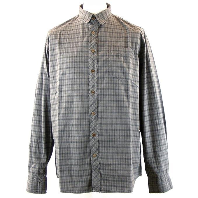 Pioneer Camisa Casual - Cuadrados - Clásico - Manga Larga - Para Hombre JxSjB3fKR