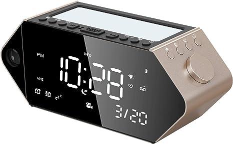 Amazon.com: Sicsmiao Reloj despertador de proyección digital ...