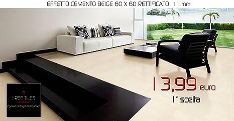 Campione piastrelle pavimento gres effetto cemento grigio