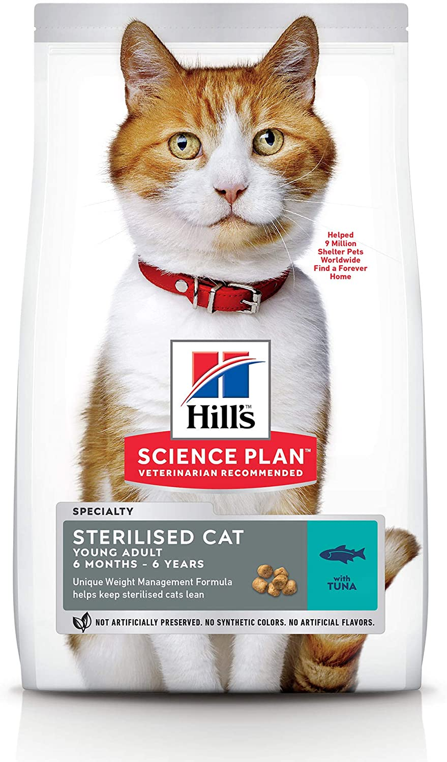 Hill's Feline Young Adult Sterilised Cat Tuna Comida para Gatos - 300 gr, Normal