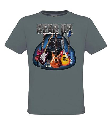 DarkArt-Designs Gear Up Guitar - Camiseta guitarra para hombres y mujeres - instrumento musical Estilo de Vida T-Shirt regular fit: Amazon.es: Ropa y ...
