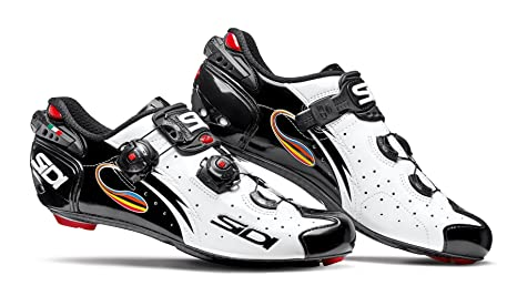 New SIDI Wire Carbon Push Road Bike Bicycle Cycling Shoes White // Black
