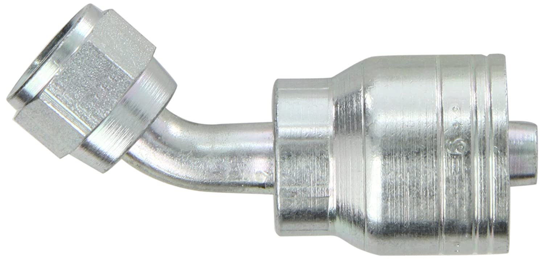 Hydraulic Crimp Fitting Single Fitting 1//2 Hose X 5//8 Female JIC 45 Degree Bite The Wire Series