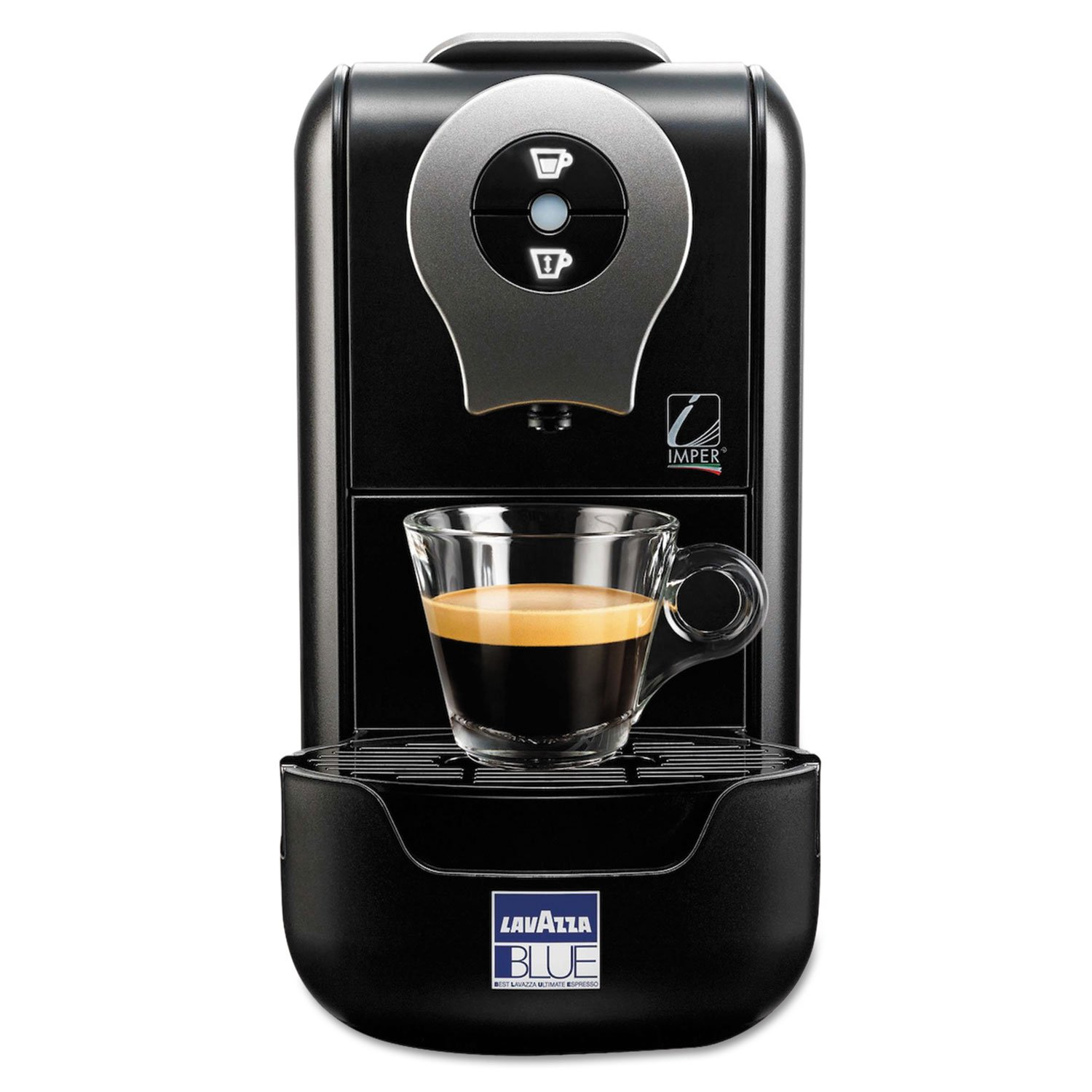 Lavazza LB 901 LB 901 Blue Single Serve Espresso Machine LB910, 13 cm x 23,5 cm x 36 cm Black