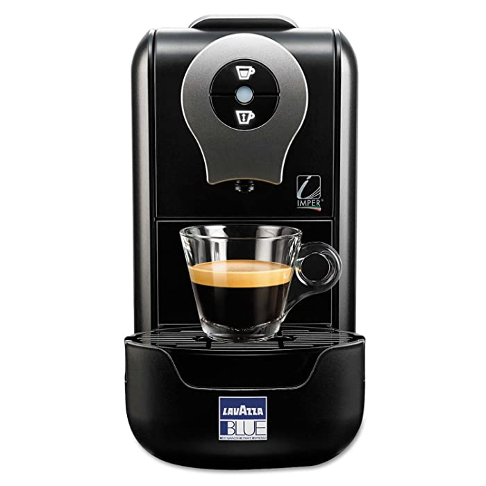 Lavazza LB 901 LB 901 Blue Single Serve Espresso Machine LB910, 13 cm x 23,5 cm x 36 cm Black