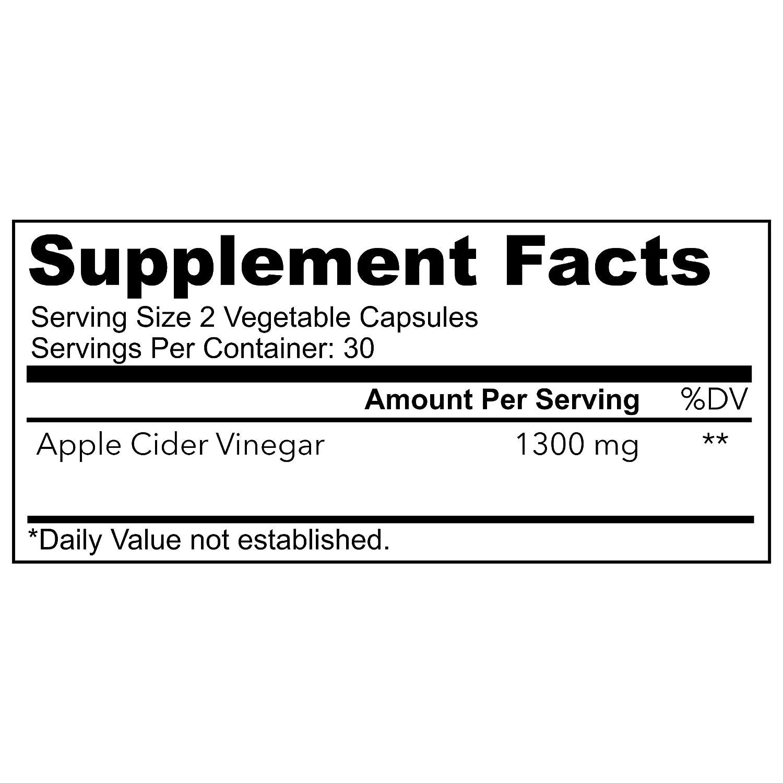 Amazon.com: 1300 mg vinagre de sidra de manzana natural ...