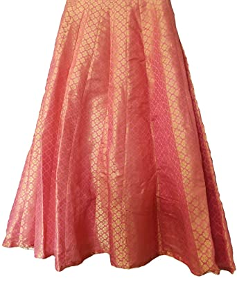 fe7a49163 skirts - designer Brocade silk long skirt: Amazon.in: Clothing & Accessories