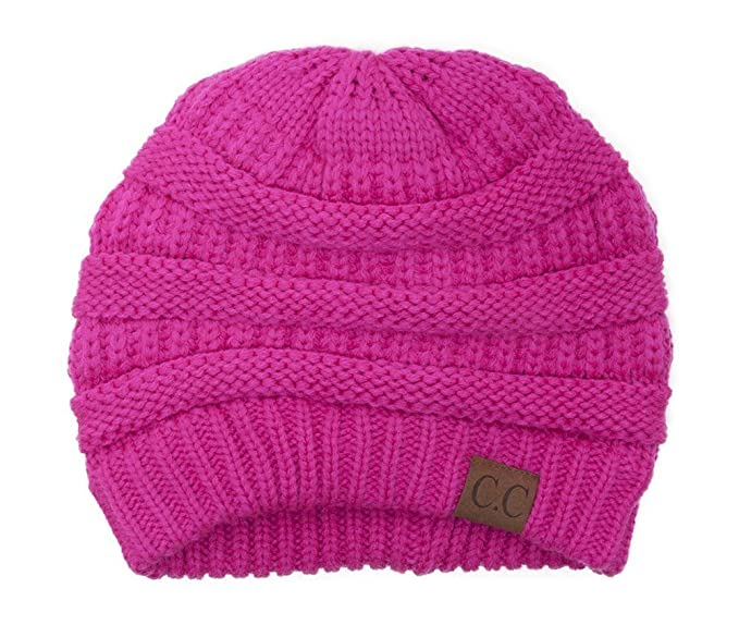 749934ed885 Image Unavailable. Image not available for. Color  Thick Slouchy Knit  Oversized Beanie Cap Hat