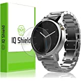 IQ Shield LiQuidSkin [6-Pack] - Motorola Moto 360 42mm Screen Protector [2nd Gen 2015] & Warranty Replacements - HD Ultra Clear Film - Protective Guard - Extremely Smooth / Self-Healing / Bubble-Free