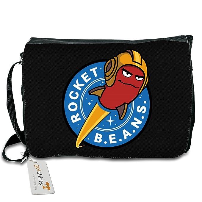 RBTV Logo getshirts Schultertasche white uni Rocket Beans TV Official Merchandising