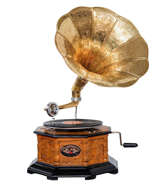 Stile antico grammofono aubaho