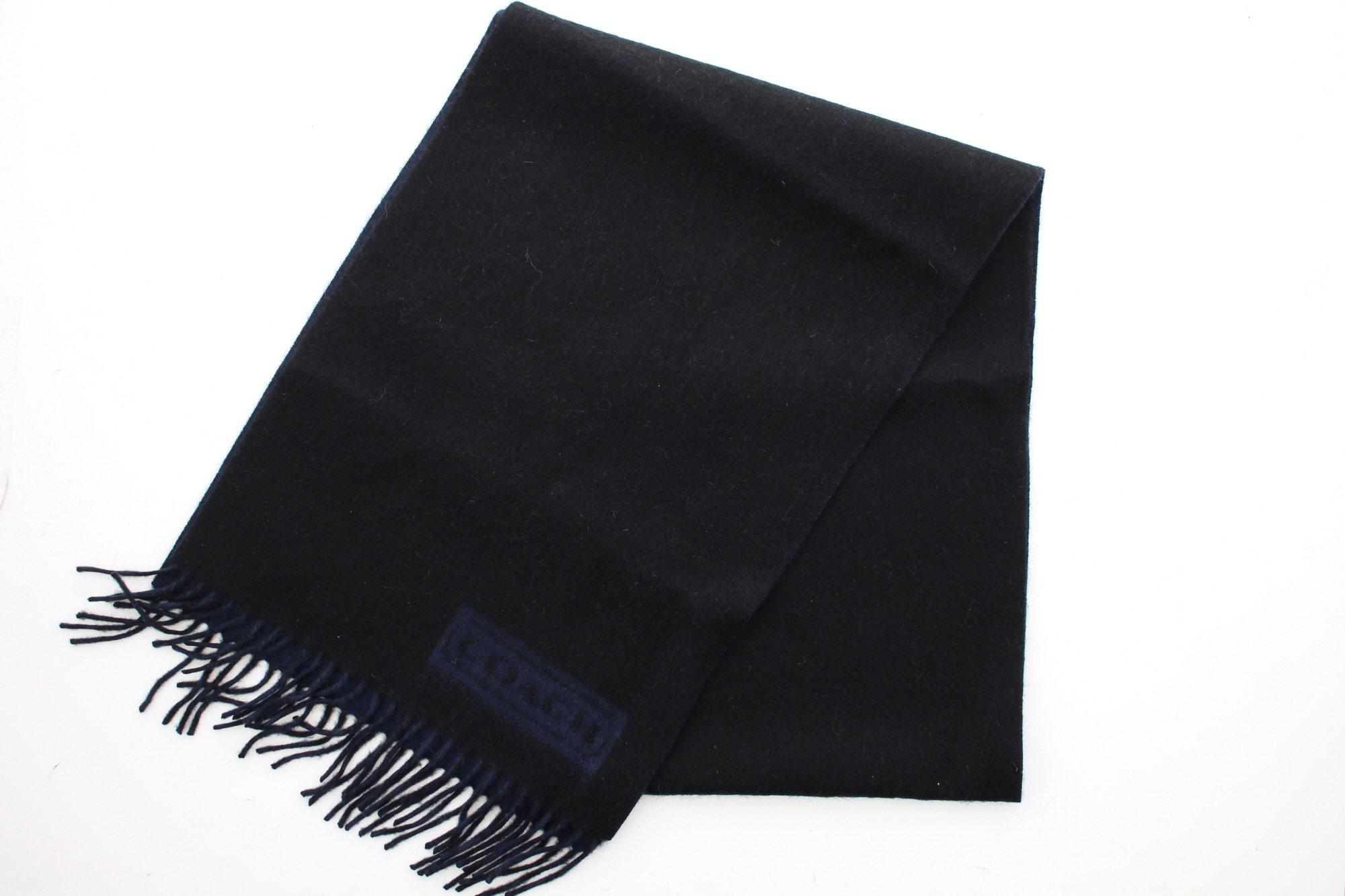 Coach Men's 84080 Lozenge Muffler Scarf 100% Cashmere (Black/Blue) by Coach (Image #1)