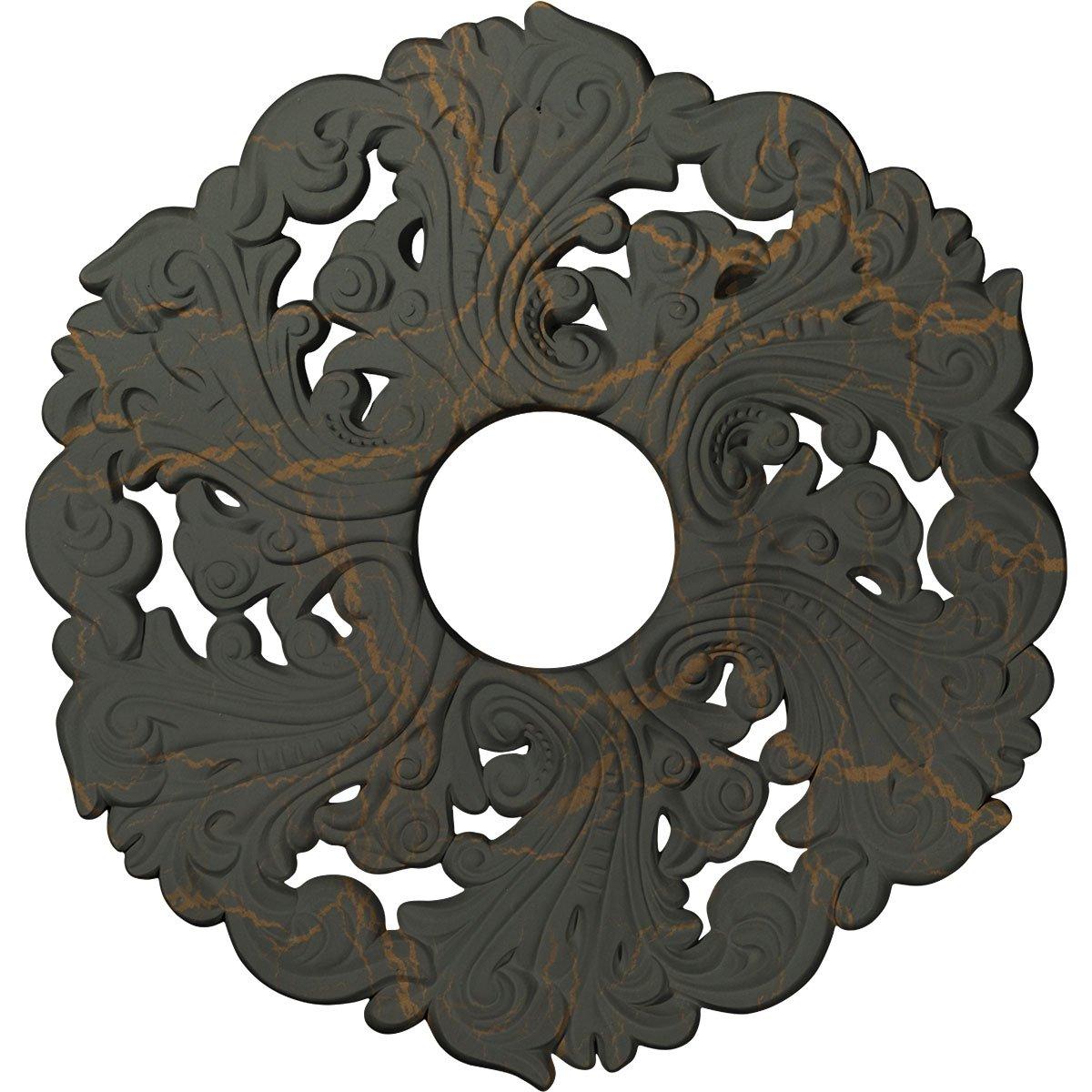 Ekena Millwork CM19ORWHC Orrington Ceiling Medallion, Witch Hazel Crackle
