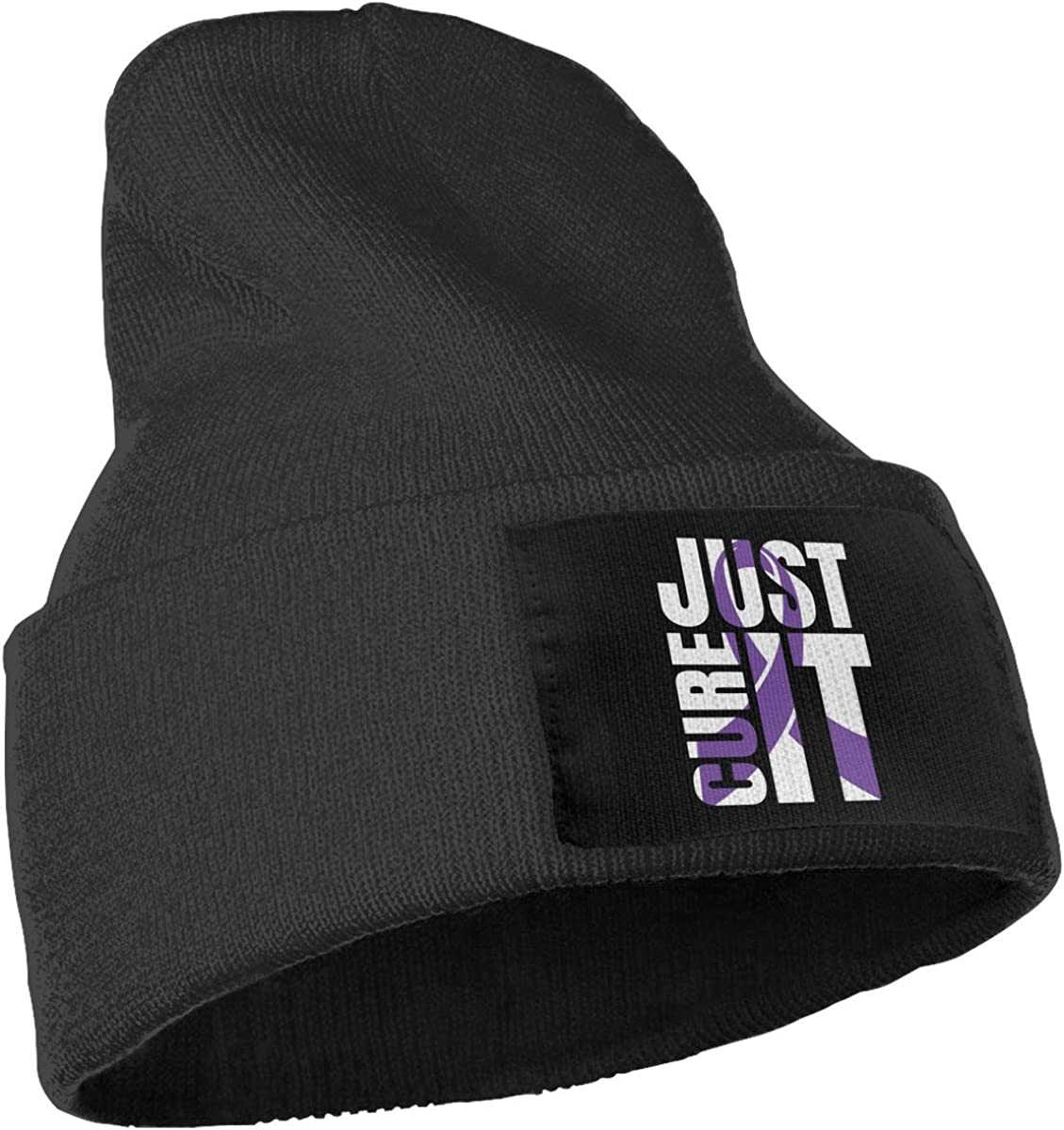 COLLJL-8 Men /& Women Just Cure It Leiomyosarcoma Cancer Awareness Flag Outdoor Warm Knit Beanies Hat Soft Winter Skull Caps